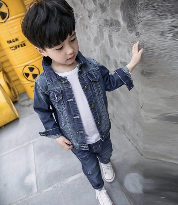 เสื้อผ้าเด็กผู้ชายสไตล์เกาหลี ชุดยีนส์