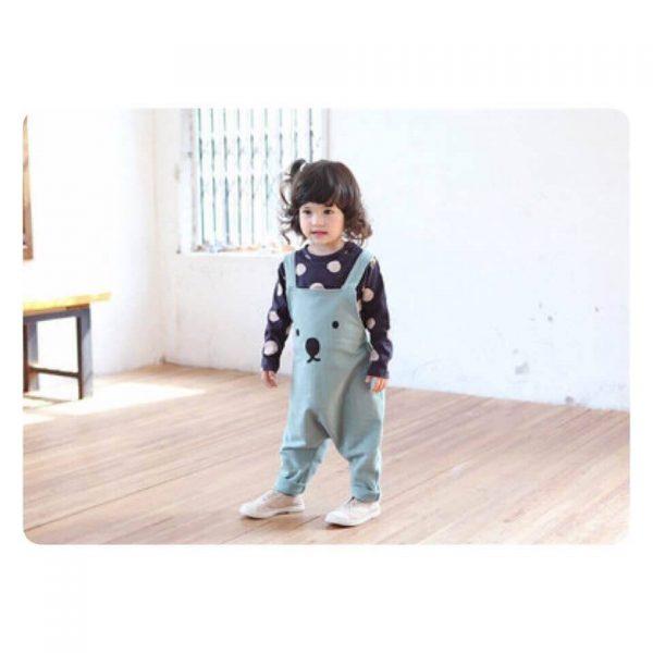 เสื้อผ้าเด็กสไตล์เกาหลี ชุดเอี้ยมหมีเด็กน่ารัก