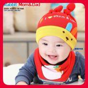 หมวกเด็กน่ารัก หมวกเด็ก ผ้ากันเปื้อนน่ารัก