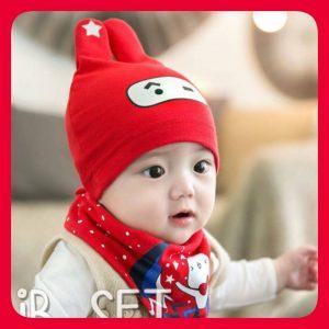 หมวกเด็กน่ารัก หมวกเด็ก ผ้ากันเปื้อน