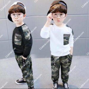 เสื้อผ้าเด็กลายทหาร