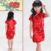 ชุดกี่เพ้าเด็ก ชุดเด็ก ชุดกี่เพ้าสวยๆ กี่เพ้าเด็ก ชุดตรุษจีนเด็ก ชุดนี้เป็นแบบเดรส กี่เพ้าเด็กหญิง คอจีน สีแดงสดใส เนื้อผ้านิ่ม สวมใส่สบาย