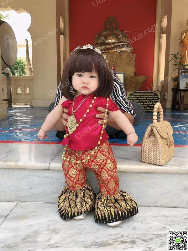 ชุดไทยใส่ลอยกระทงเด็ก